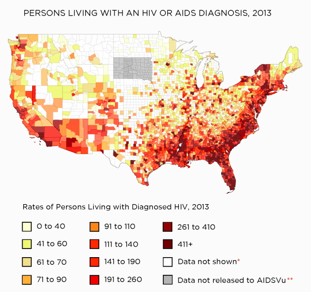 HIV Rates Are Rising Across the American South in States That Didn't Expand Medicaid
